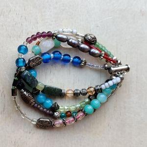 Vintage stone and glass bracelet